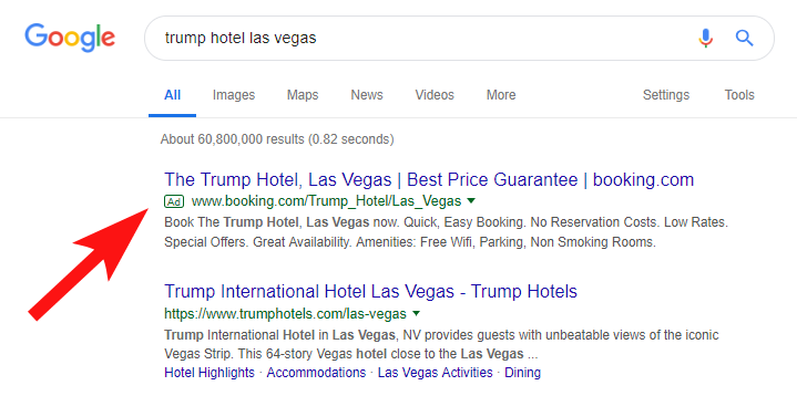 Brand name bidding for hotels