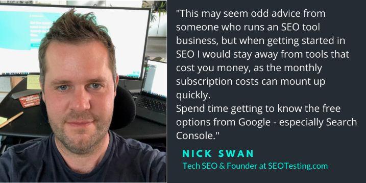 Nick Swan Tech SEO
