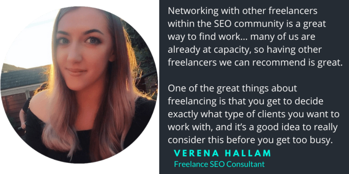 Verena Hallam SEO consultant