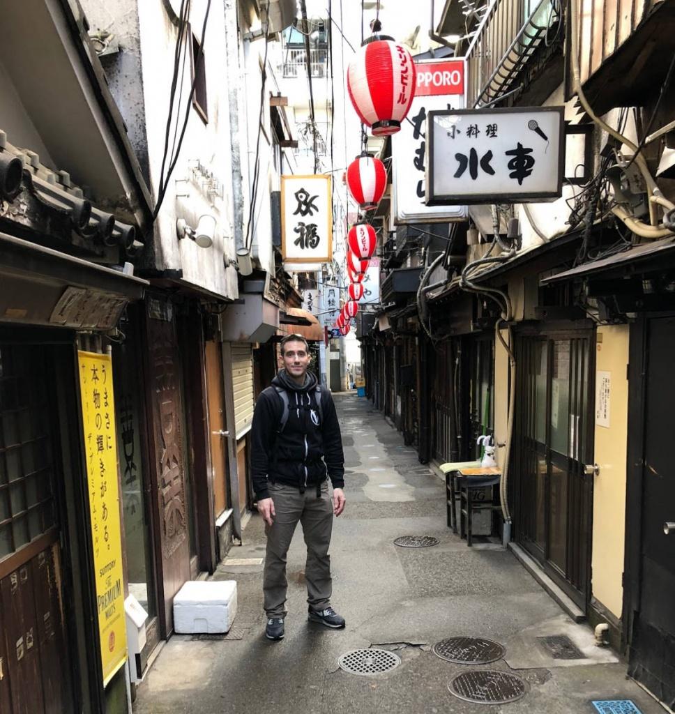 Adam in backstreets of Japan