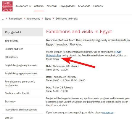 Cardiff University webpage link