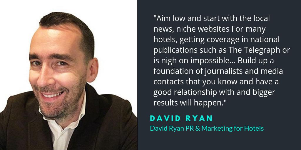 David Ryan PR for hotels