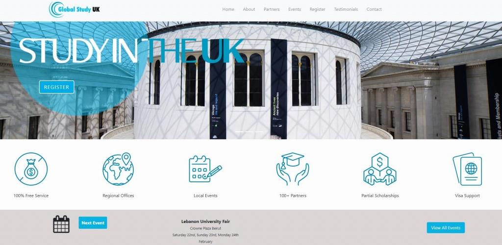 GlobalStudyUK website