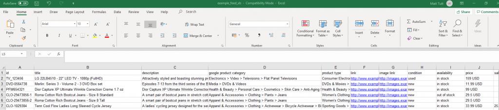 Google Product Feed optimisation