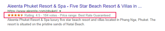 Rich Snippets for Hotels in Google