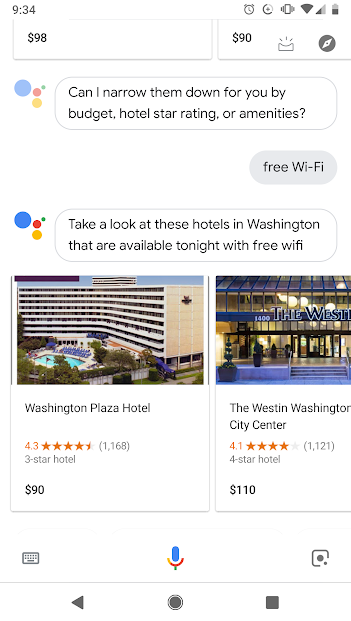Hotel voice SERP screenshot